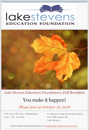 2018 Fall Breakfast Invitation